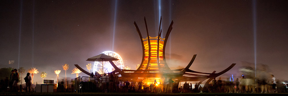 Coachella pagoda