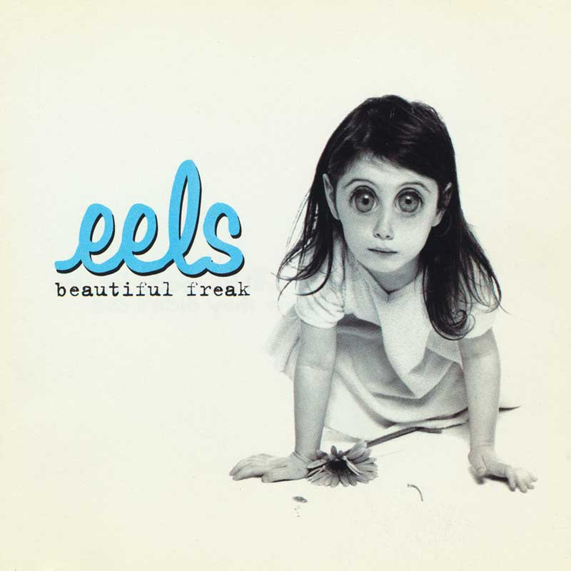Eels, Beautiful Freak CD Cover and Booklet.  Dreamworks, Francesca Restrepo, Art Direction.  Various Color and BW Images Copyright © 1996 Ann Giordano / Dreamworks  All Rights Reserved.