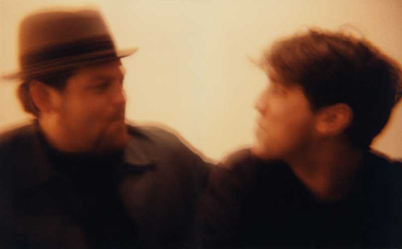 Portrait of Ted Demme and Greg Dulli.  ag_0000_1188.  Color Image Copyright © 1996 Ann Giordano  All Rights Reserved.   For reproduction rights and license fees, please contact licensing at anngiordano.com