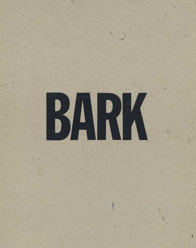Barkbox, exterior box for the artist book, BARK.  Copyright © 1991 Ann Giordano All Rights Reserved