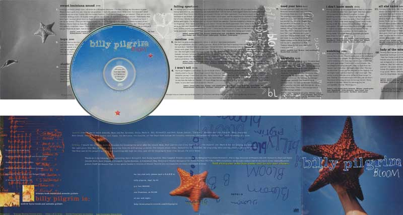 Billy Pilgrim Bloom CD Cover, Disc and Booklet,  Atlantic Records.  Jennifer Roddie, Art Direction, L.M.A.I. Design.  Various Starfish Images.  Color Rights Managed Images Copyright © 1994 Ann Giordano All Rights Reserved.  For reproduction rights and license fees, please contact licensing at anngiordano.com