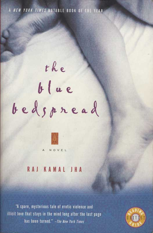 The Blue Bedspread, novel by Raj Karnal Jha.  Harcourt publisher.  Book jacket photograph, Woman's legs in bed.  ag_0000_1338  BW Rights Managed Image Copyright © 1998 Ann Giordano All Rights Reserved.  For reproduction rights and license fees, please contact licensing at anngiordano.com