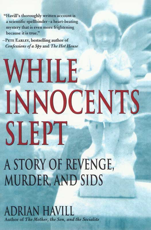 While Innocents Slept, A Story of Revenge, Murder and Sids byAdian Havall.  St. Martin's Press, publisher.  Scott Levine, designer.  Book jacket photograph, Angel on grave.  ag_0000_1304  BW Rights Managed Image Copyright © 2000 Ann Giordano All Rights Reserved.  For reproduction rights and license fees, please contact licensing at anngiordano.com