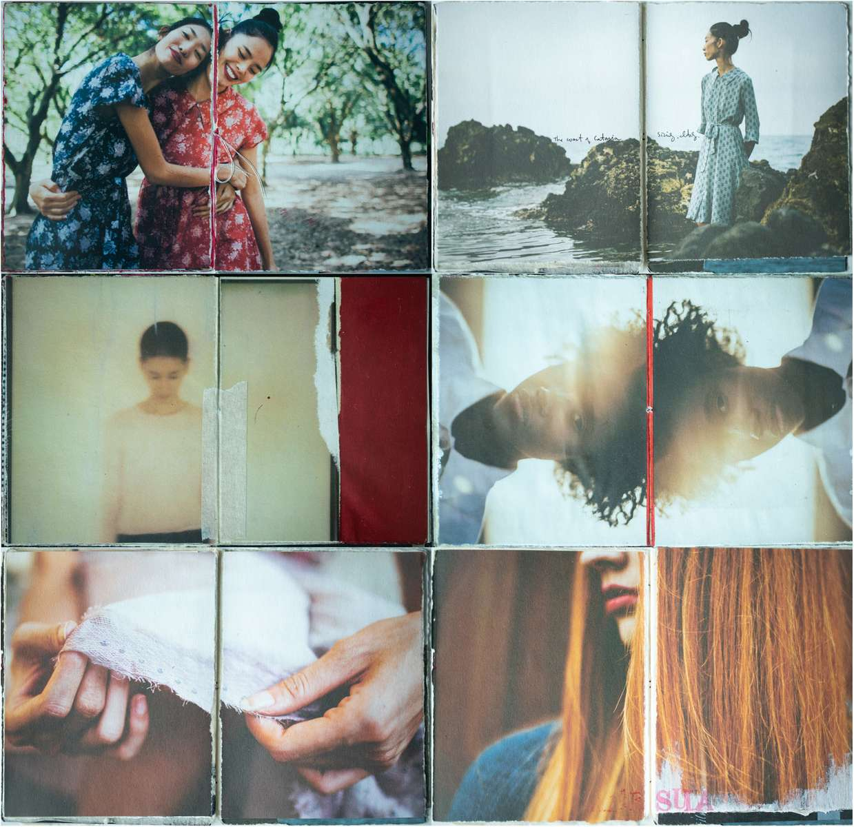 Various collections of small, handbound journals where old family photos, Polaroids, magazine assignments, and various other images of mine find second lives. Nothing too serious.