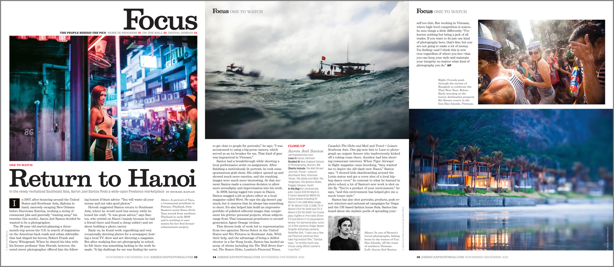 A profile piece on Yours Truly in American Photo Magazine.