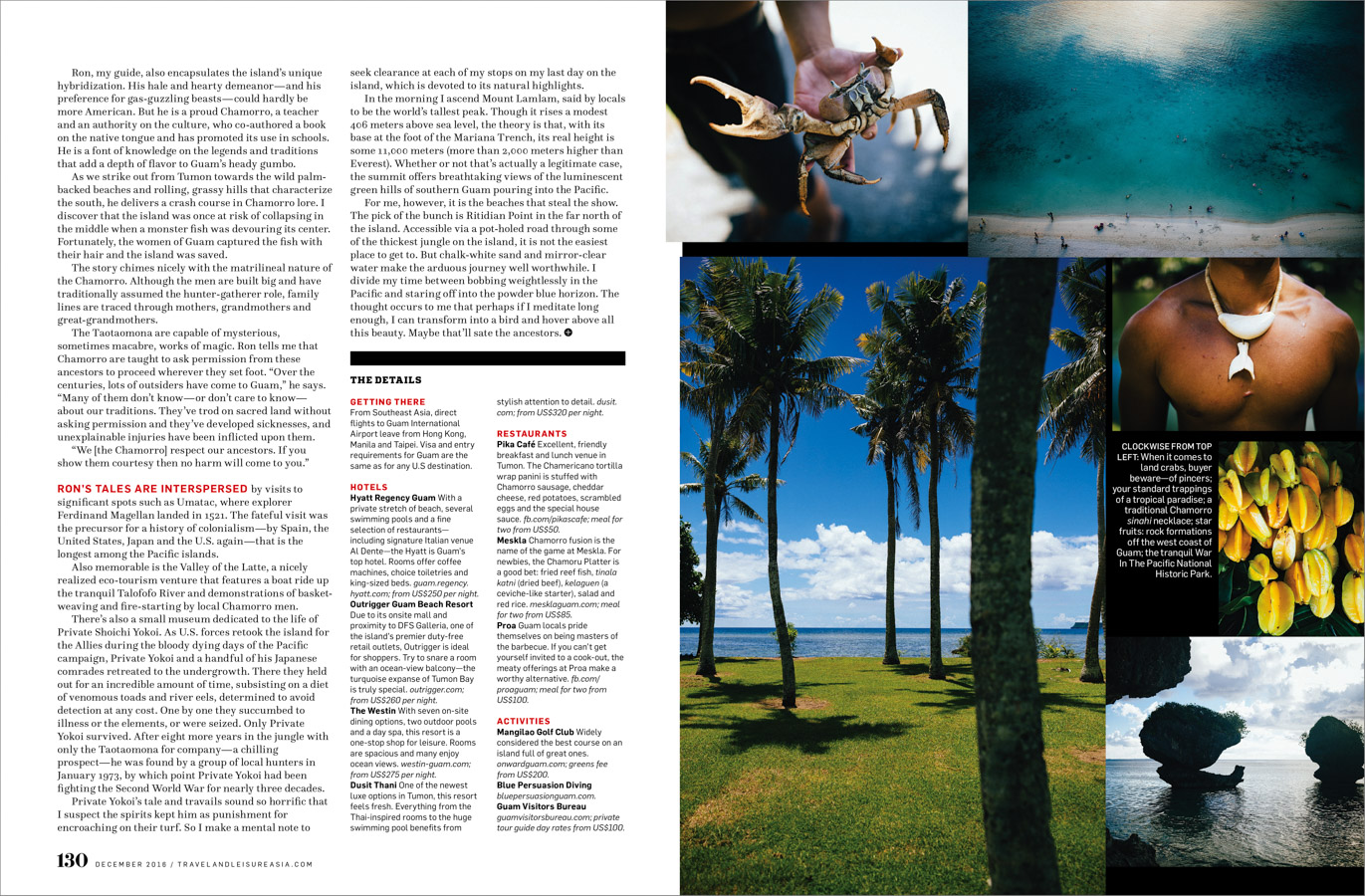 A travel feature on the island of Guam.