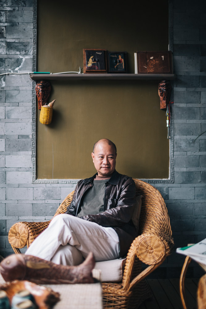A portrait of Chinese artist Ye Yongqing at his home in Dali.