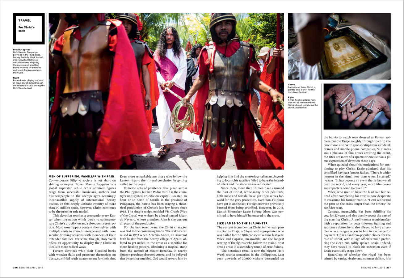 Holy Week processions in the Philippines for Esquire Singapore.