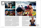 Tearsheets from a documentary series on muay thai in a Thailand prison.