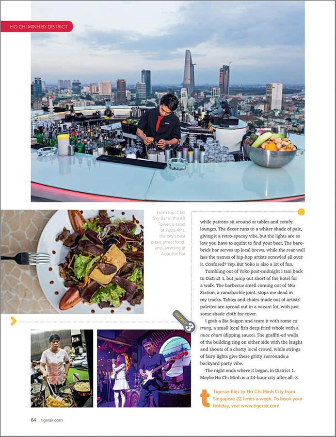 A travel feature on Vietnam's southern metropolis.