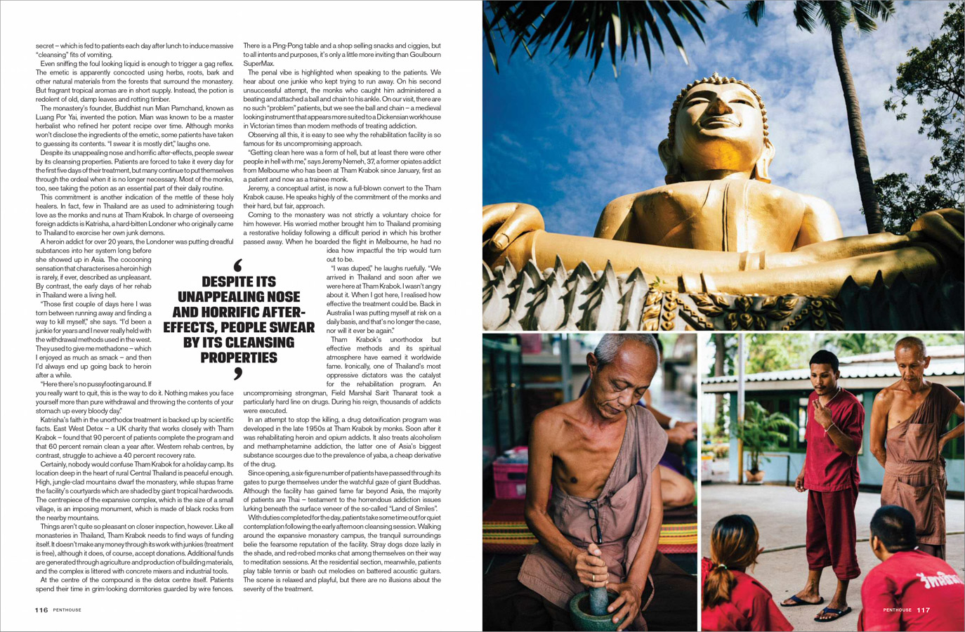 From a story about drug addiction and recovery at Tham Krabok Temple in Thailand, shot for Penthouse Australia.