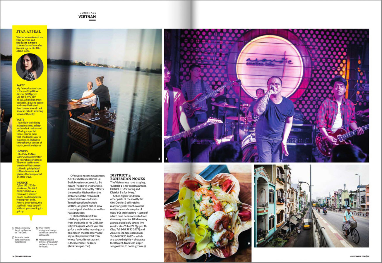 From a feature travel story on Saigon in Singapore Airlines' Silverkris Magazine.
