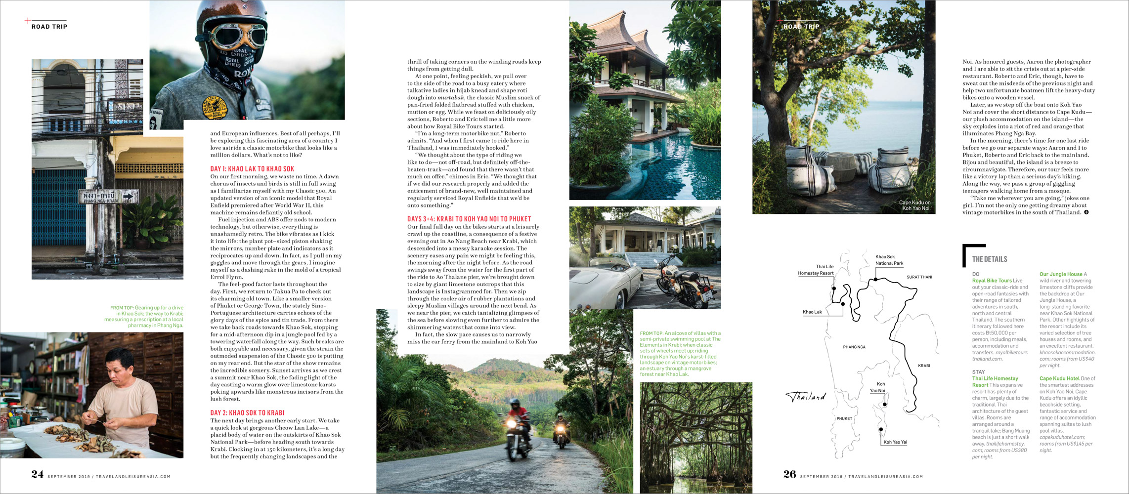 A road trip in southern Thailand for Travel + Leisure Southeast Asia.