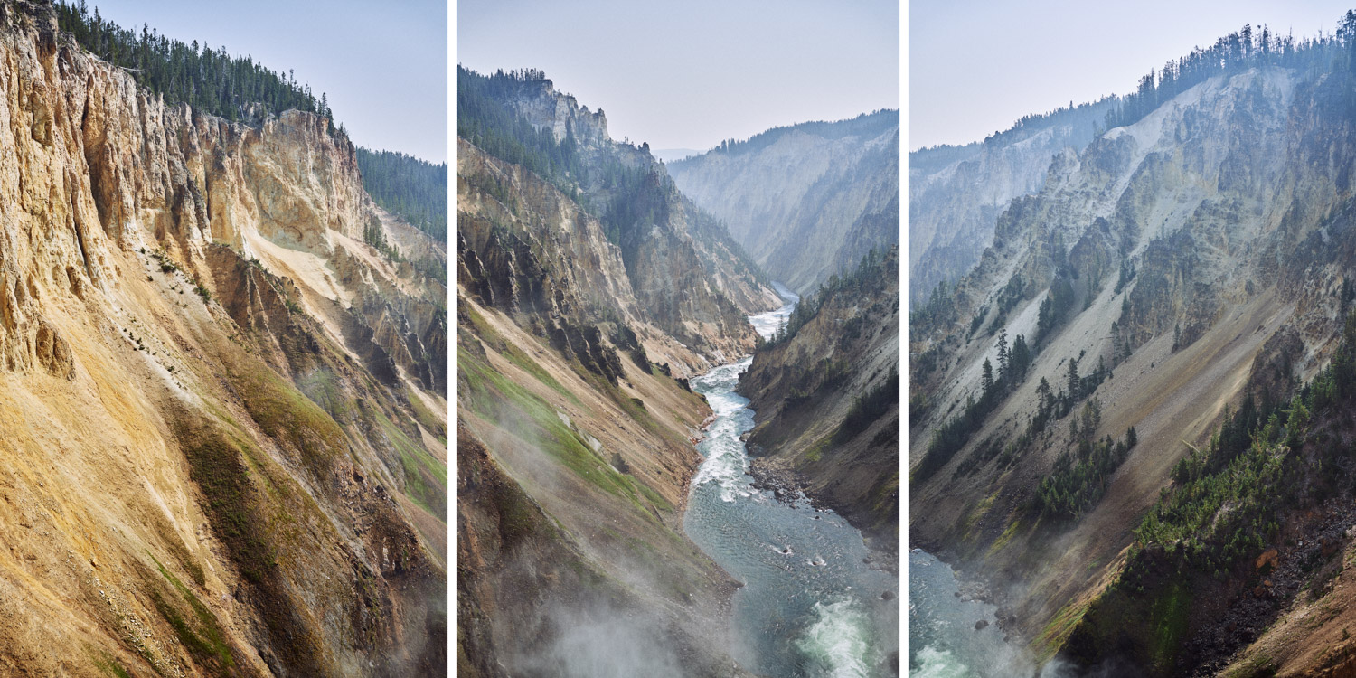 A view over the Grand Canyon of the Yellowstone, in Yellowstone National Park.