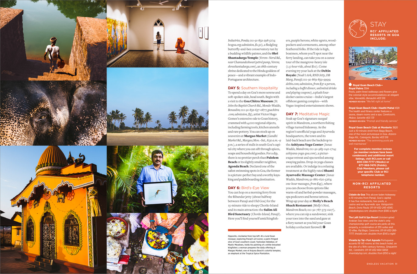 A travel feature spanning the Indian state of Goa for Endless Vacation magazine.