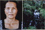 A portrait of Nguyen Thi Lien, who survived the My Lai Massacre during the American-Vietnam War, and a small ditch and stream where hundreds of bodies were systematically slaughtered by US troops on 16 March 1968.