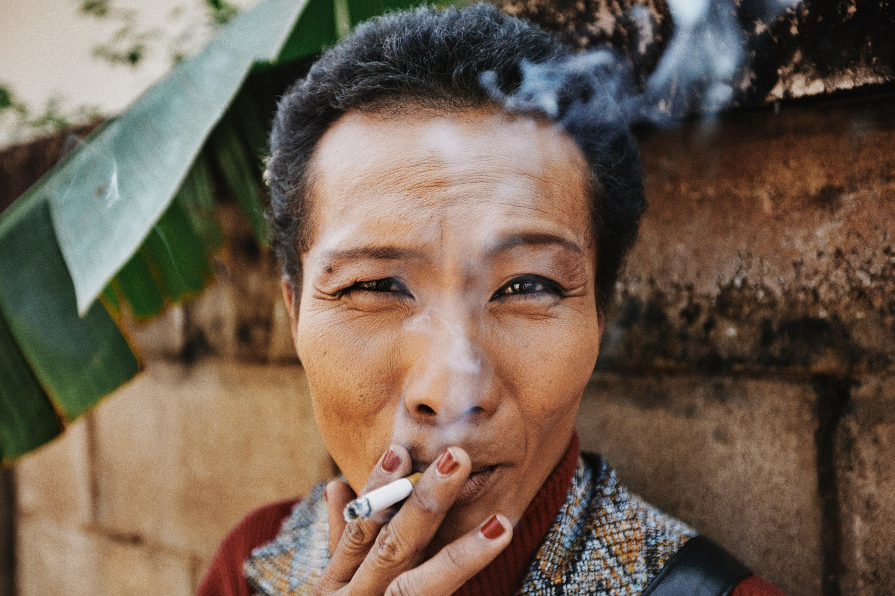 A portrait of Neung, a middle-aged transgendered woman in Phrae, Thailand.