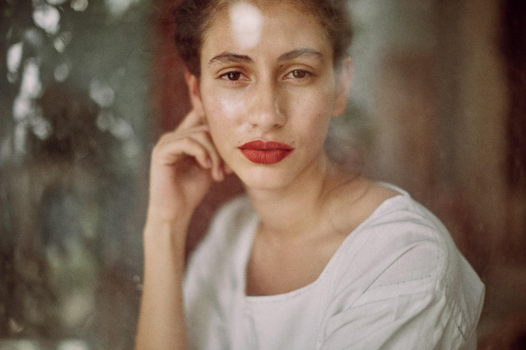 A young Mexican model in Delhi, India.