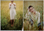 Photos from a barley field in Brighton with Sula Clothing.