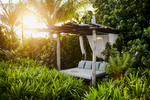 A private garden bed at the Song Saa private resort in southern Cambodia.