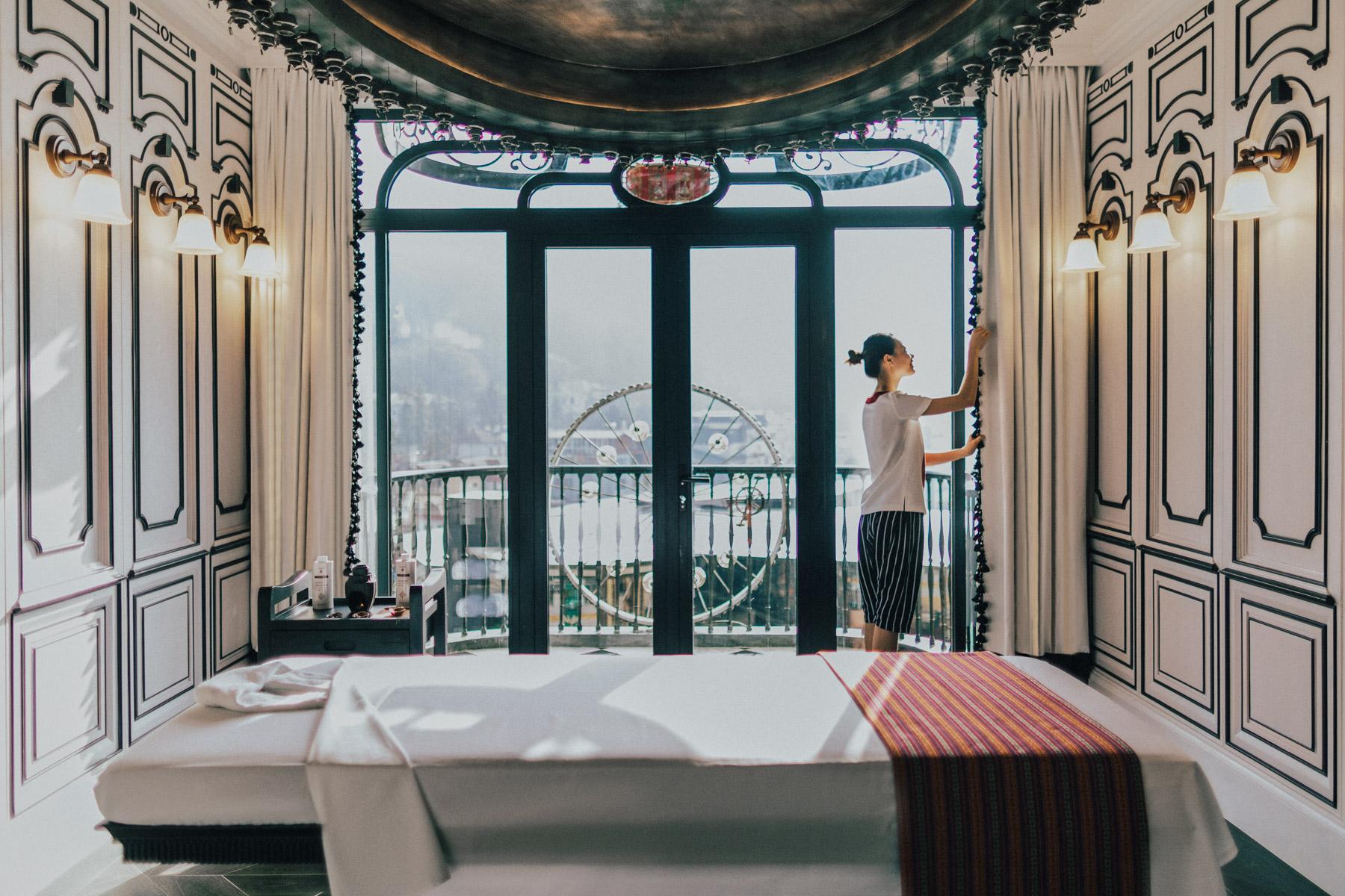 The spa at the Hotel de la Coupole in Sapa, Vietnam.