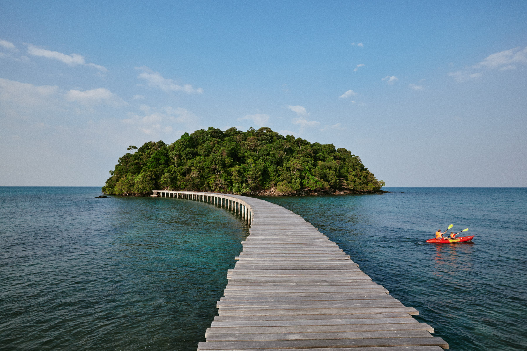 Kayaking at Song Saa's private island resort off the coast of southern Cambodia.