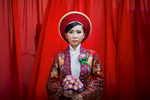 A portrait of a young Vietnamese bride in Ho Chi Minh City, Vietnam.