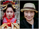 Portraits of two Japanese women on the southern island of Kyushu in Japan.
