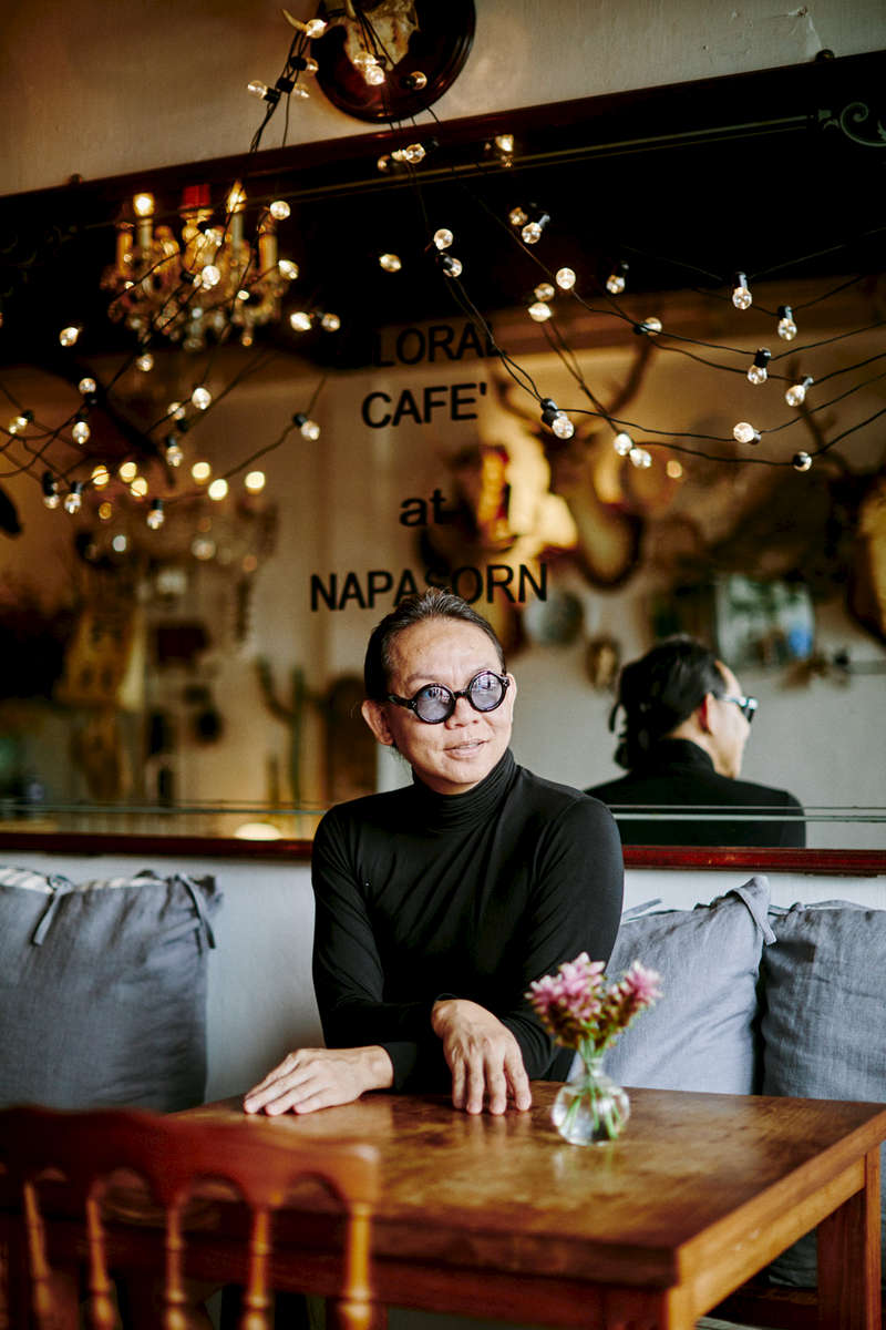 A portrait of Phoowanath Chumsrikarin, the owner of the Floral Cafe at Napasorn in Bangkok.