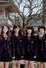 A portrait of apparently rebellious Japanese schoolgirls in Kyushu, Japan.