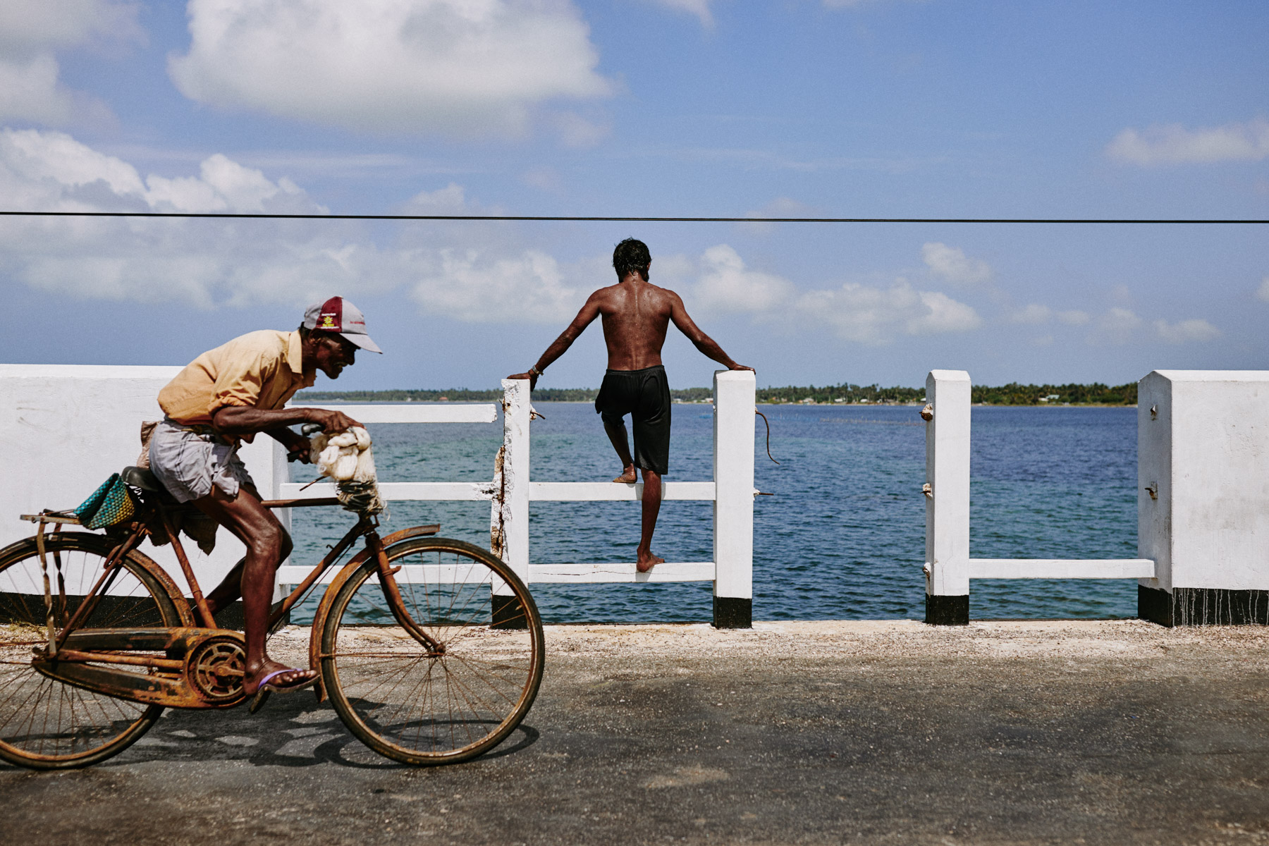 A fisherman contemplates the sea on the Jaffna Peninsula in northern Sri Lanka.