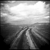 A road less traveled in the steppes of northern Mongolia.