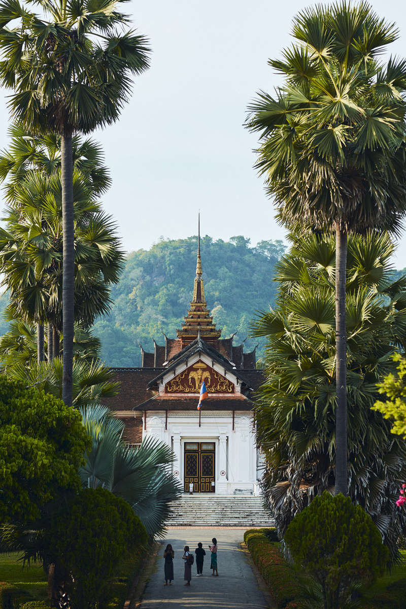 A view of the Royal Palace & National Museum in Luang Prabang.