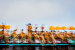 A festival boat on Inle Lake in Shan State, Myanmar.