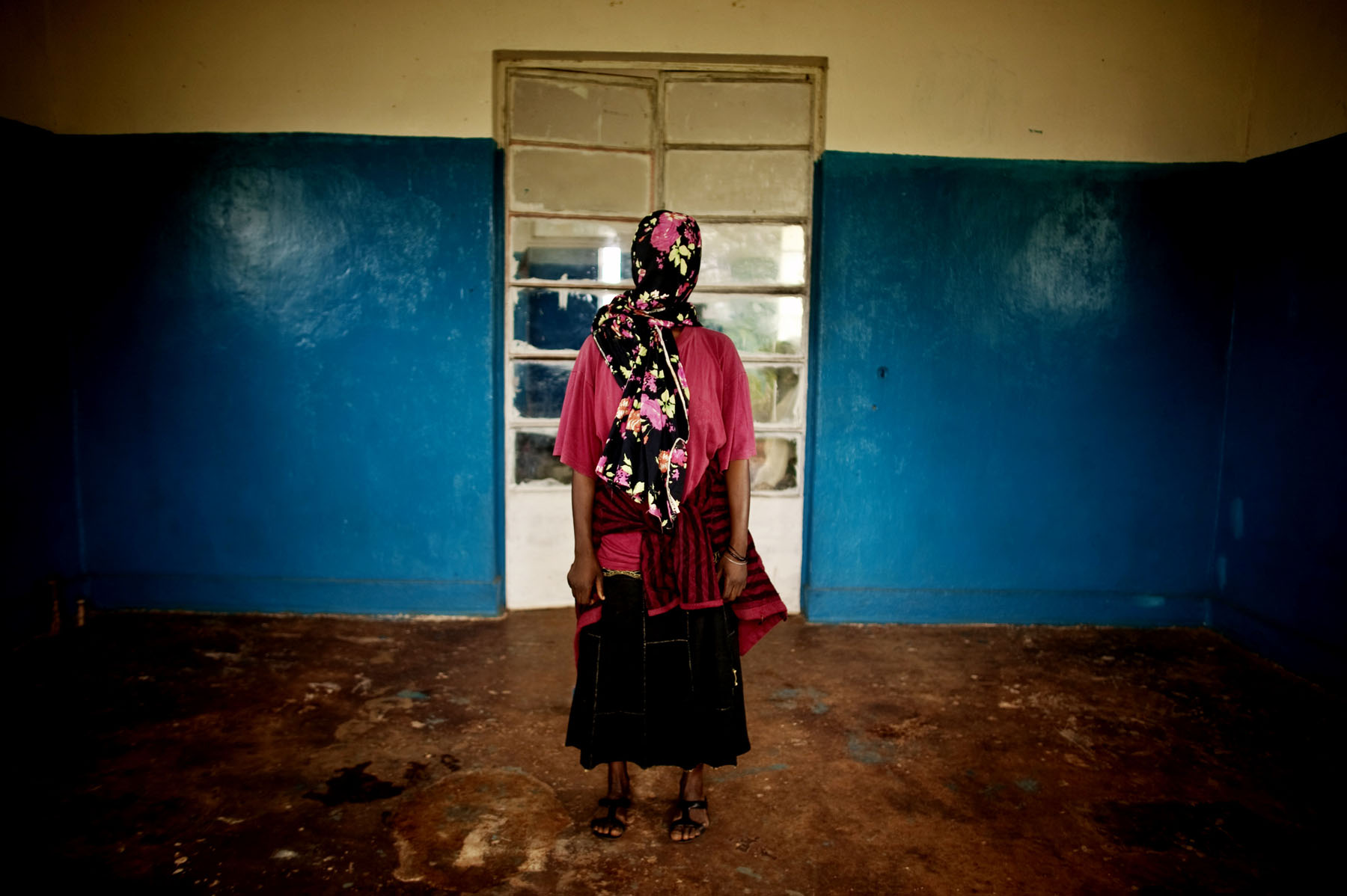 Despite fear of reprisals and of strong social stigma, more than fifty rape survivors traveled from Fizi to Baraka in order to testify against Kebibi and his men. On the condition of anonymity, dozens of women were eager to pose for portraits. Their courage and defiance was deeply moving.