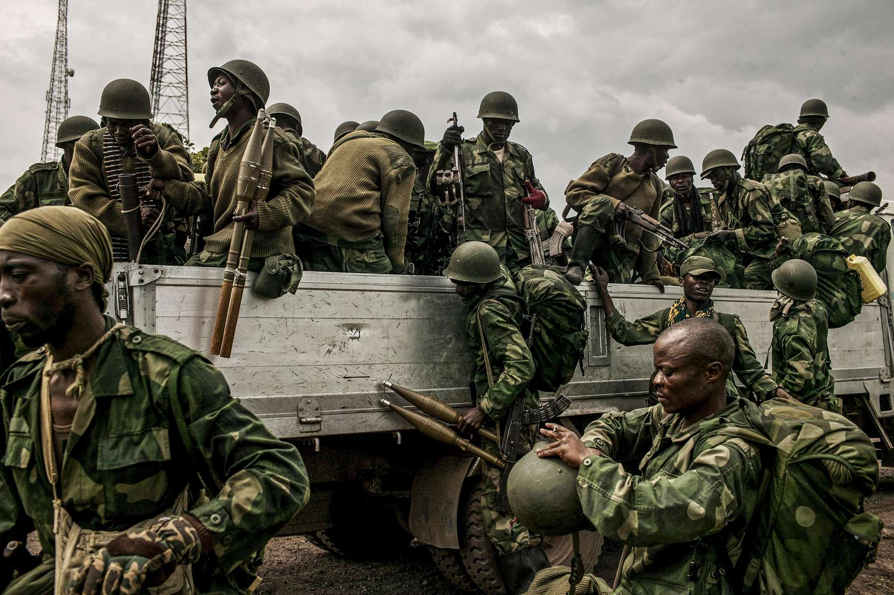Congolese forces arrive for a large scale offensive against M23 rebels who are dug in in the hills around Kibumba, north of Goma.