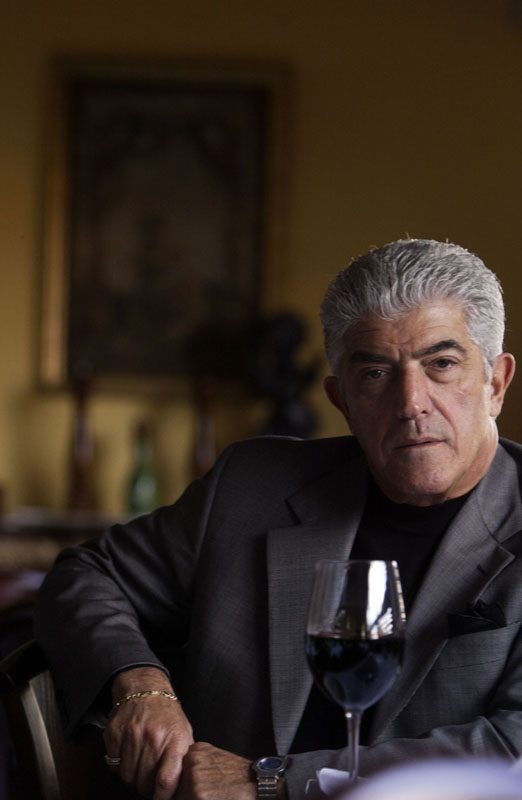Frank Vincent of the Soprano's during a photo shoot.