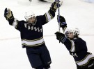 Ramsey Patrick Rutkowski celebrates a first perido goal for Ramsey which won 2-0  during the NJSIAA Public B Ice Hockey Championship between Ramsey and Kinnelon.