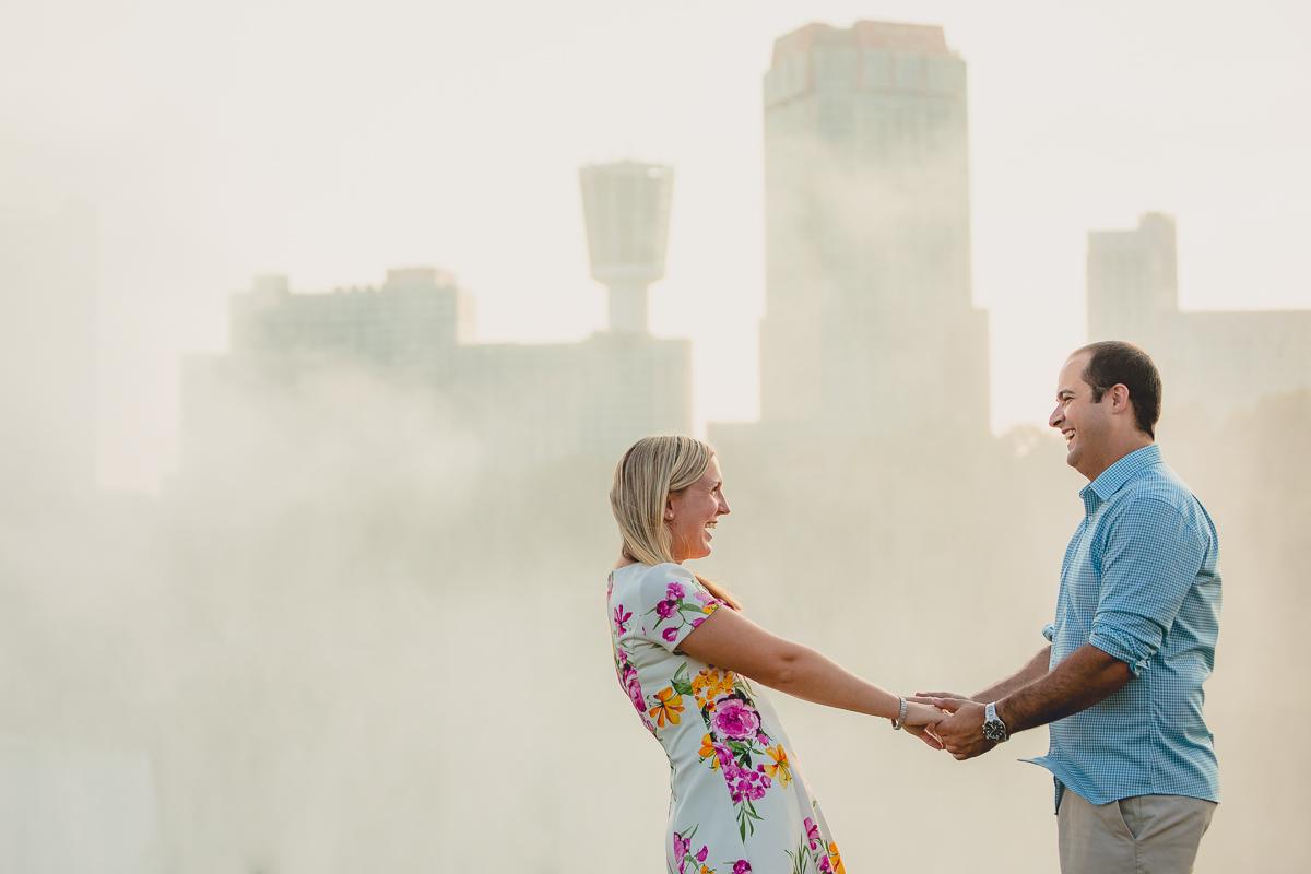 Akron Falls Wedding Engagement Photography
