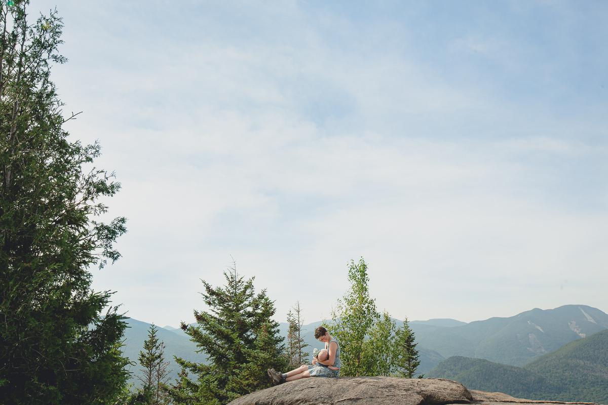 Adirondack mountains wedding vow renewal