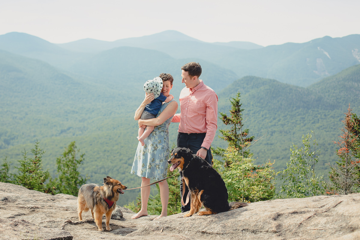Adirondack mountains wedding vow renewal