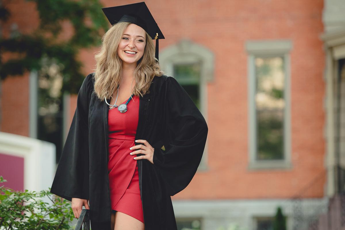 senior portrait photography D'Youville College