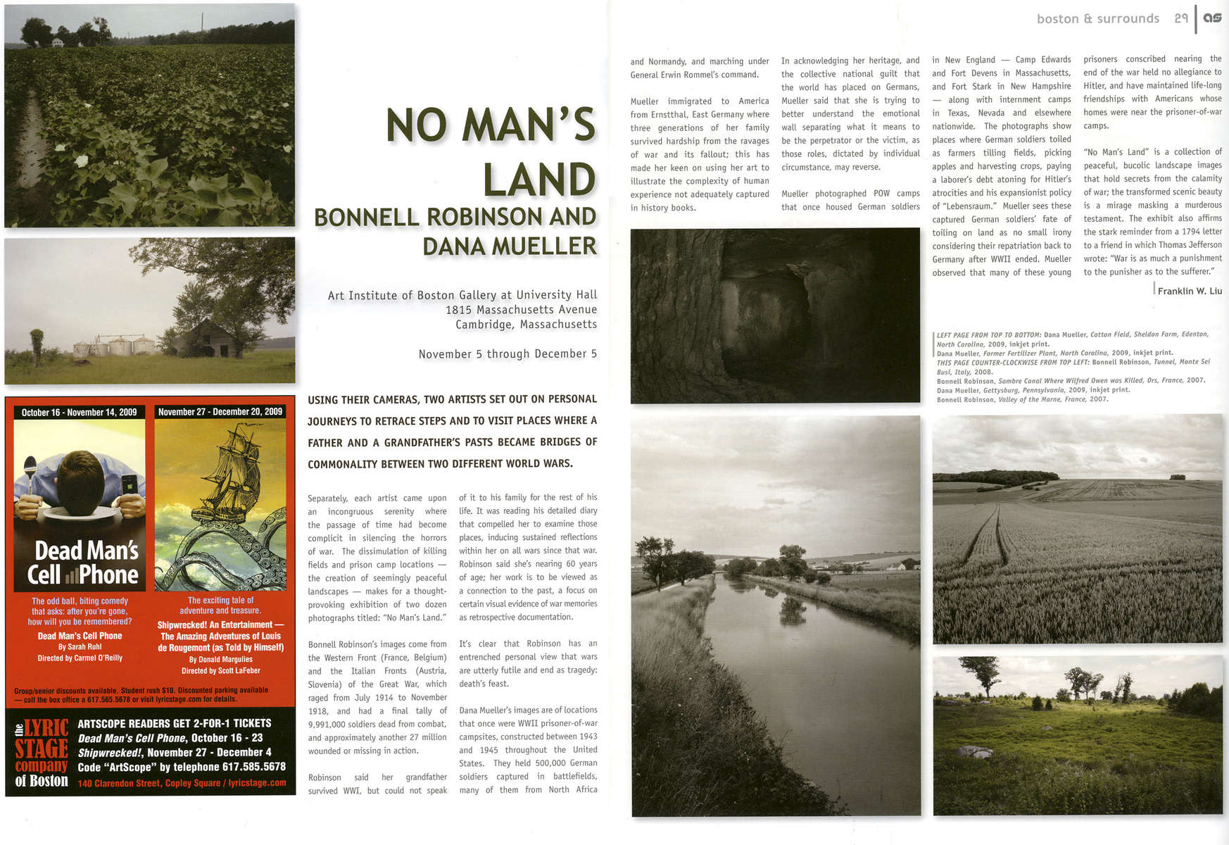 --NO MAN'S LAND Bonnell Robinson and Dana MuellerBy Franklin W. Liu