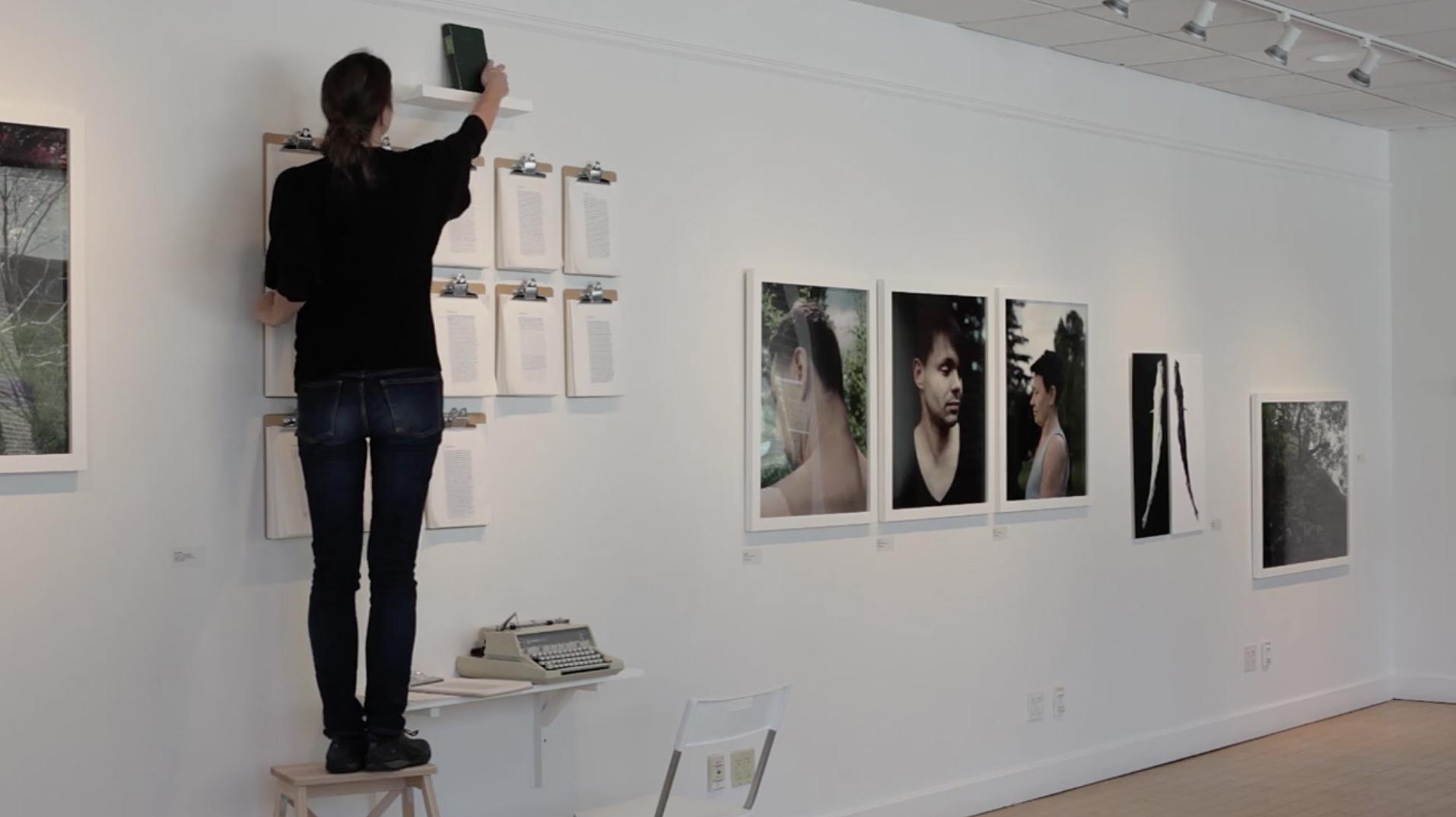 De Naturae exhibit, performance video still, Il Ritorno in Patria Redux, Marran Gallery, Cambridge, MA, 2014