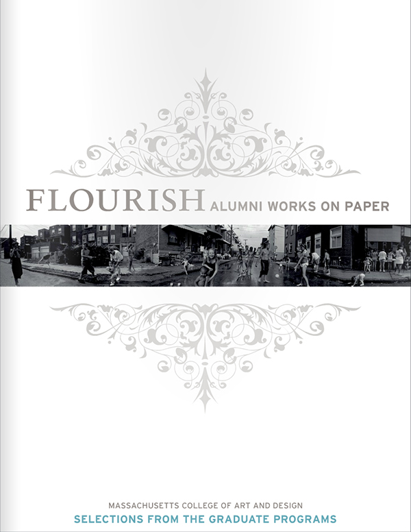 FLOURISH: Alumni Works on Paperwas the first juried alumni exhibition (June 6 - July 9, 2011) held at the Bakalar & Paine Galleries at MassArt. Showcasing the breadth of talent and excellence embodied by MassArt's artists and designers, this catalog features the work of the 19 alumni of The Graduate Programs of Massachusetts College of Art and Design.Juror: Michelle Lamuniére, John R. and Barbara Robinson Family Assistant Curator of Photography at the Fogg Museum/Harvard Art Museums