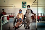 Tem Roeun (and brother), TB patient, MSF TB ward, Siem Reap, Cambodia.