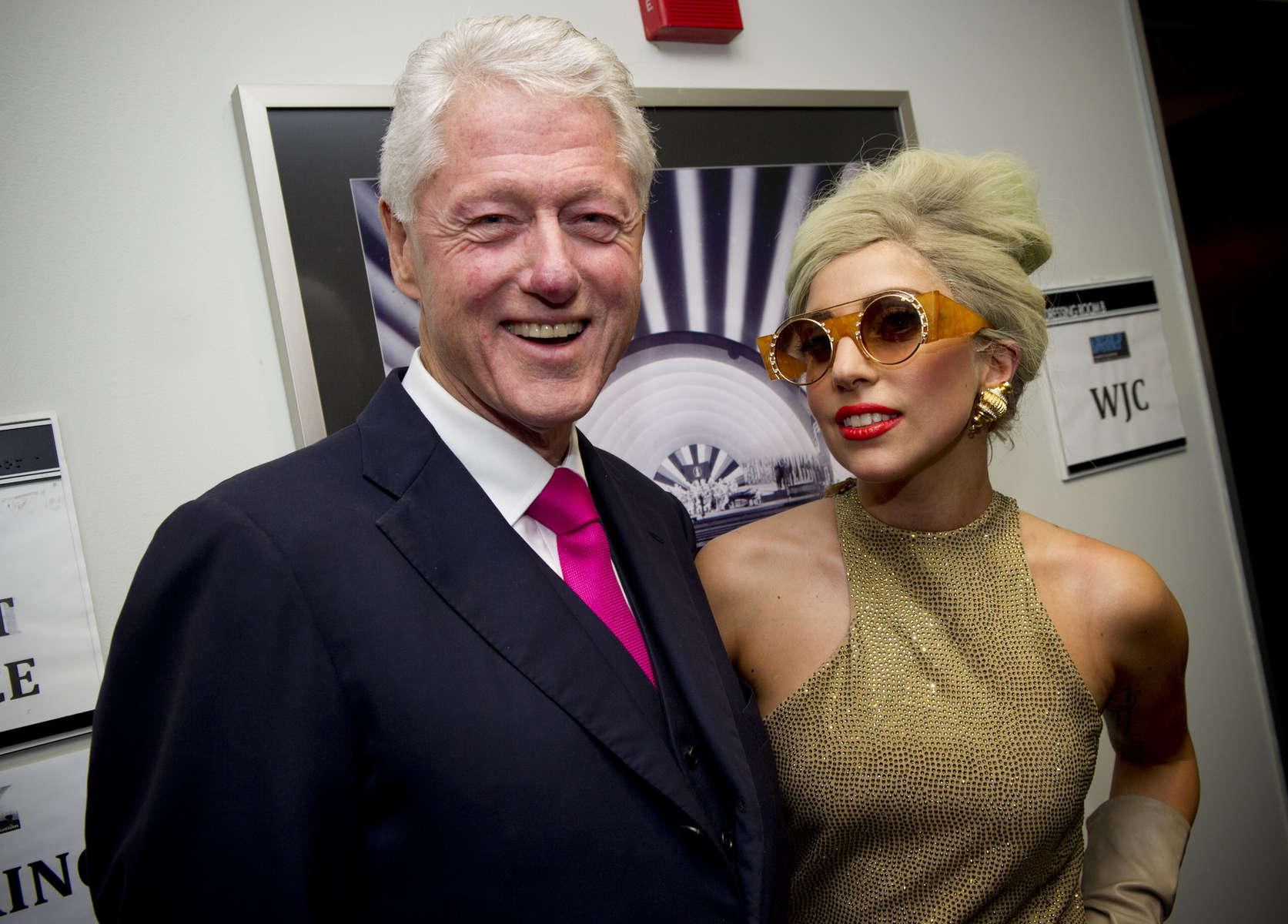 President Clinton and Lady Gaga