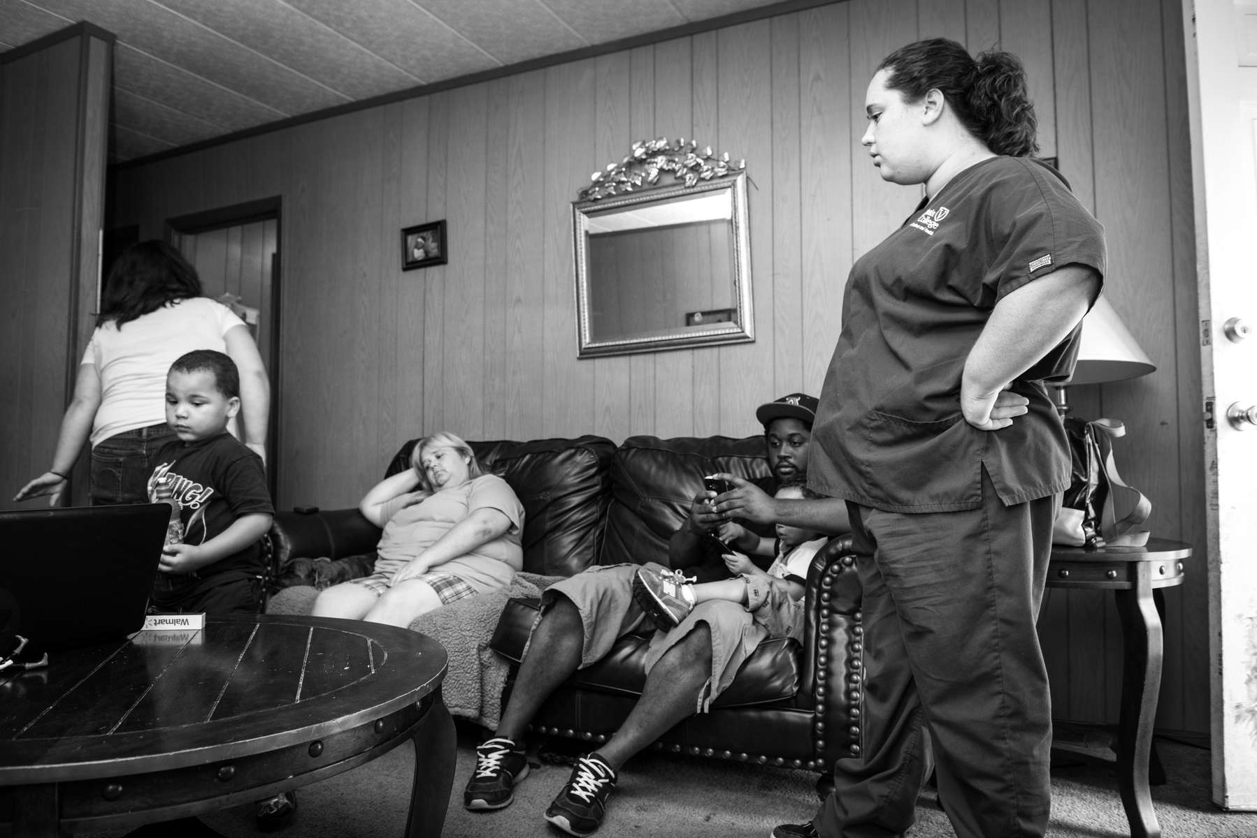 Jessica McGowan at the house she shares with her mother and other family members in Chattanooga, TN on August 22, 2013.