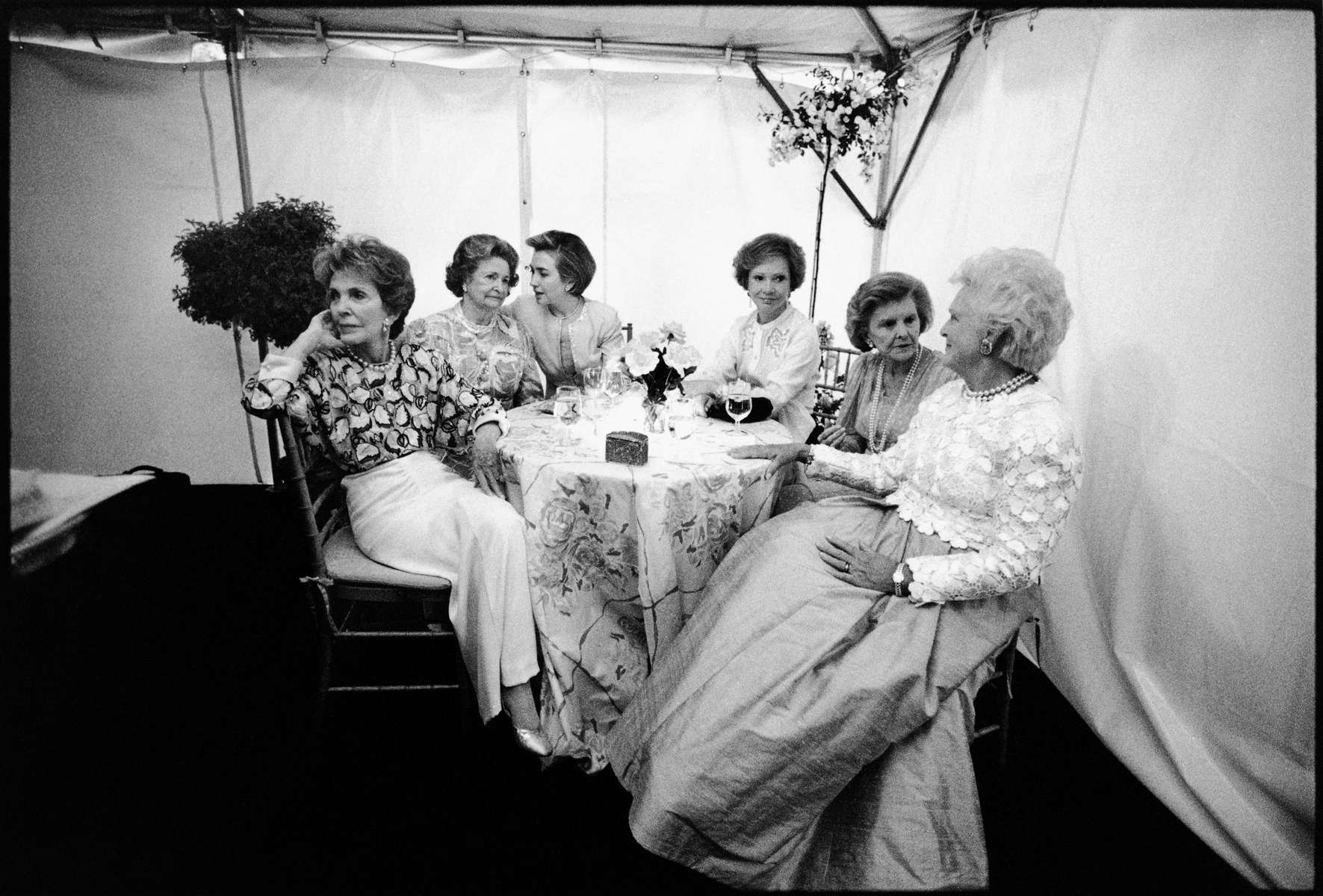 First Ladies, photographed on May 11, 1994. Please credit photo by Barbara Kinney, The White House.