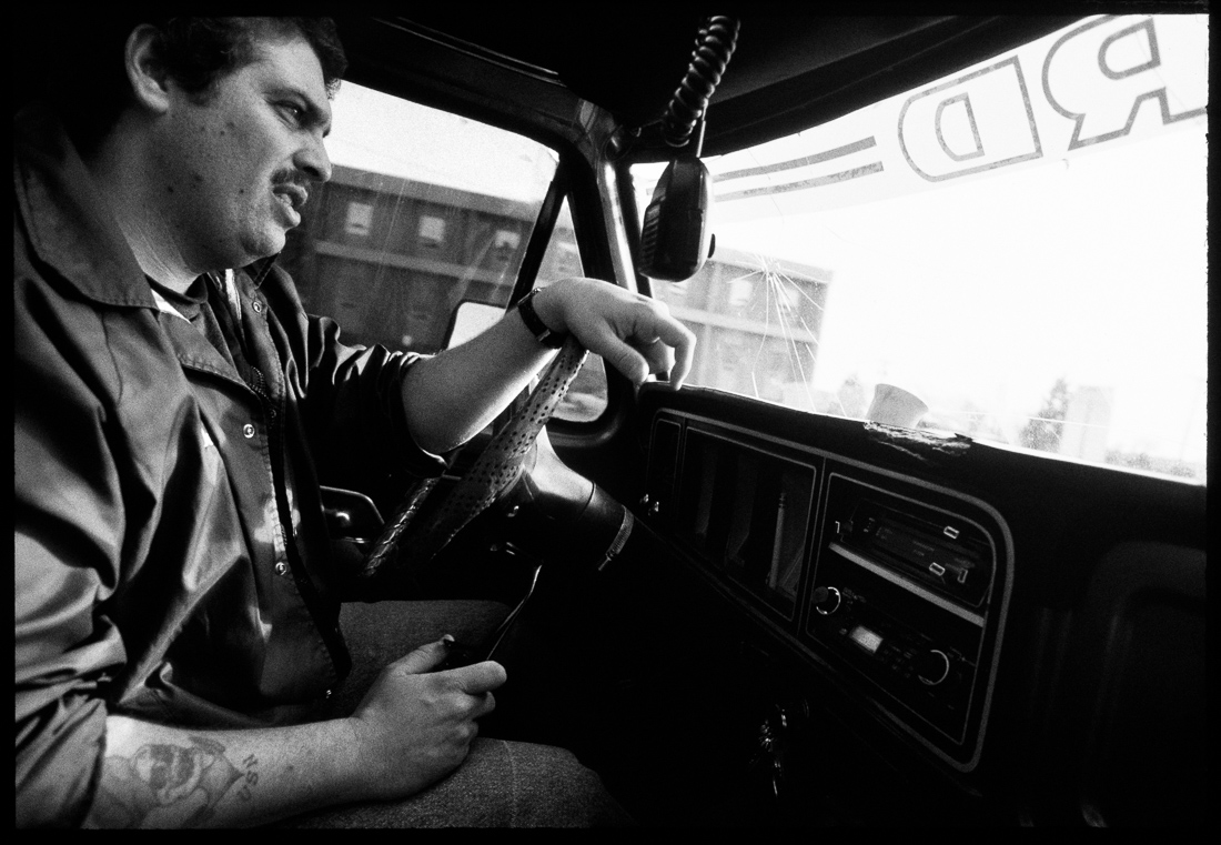 Colorado Springs bounty hunter Joe Divido leaves in his huge Ford truck to go look for a fugitive.